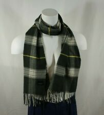 Lord and Taylor Gray Check Plaid Scarf Men's Made in Germany