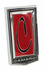 "1971 - 1973 CAMARO FRONT HEADER PANEL EMBLEM RED - C - ""CAMARO"" MADE IN THE USA"