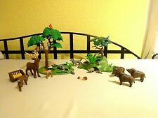 Playmobil Spielset Wald & Waldtiere Bäume Wildschwein Hirsch Reh Dachs Waschbär
