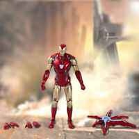 "7"" Armored Iron Man MK85 MARK 85 Avengers Endgame Marvel Action Figure Toy"
