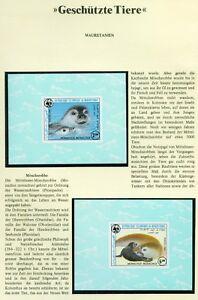 MAURETANIEN, 1986 WWF Robbe 871-74, 4 De Luxe Blocks **,(9505)+
