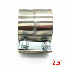 "2.5"" 63MM Stainless Exhaust Band Clamp Step Clamps for Catback Muffler Downpipe"
