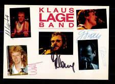 Klaus Lange Band  Autogrammkarte Original Signiert ## BC 95894