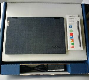 """Lenovo Yoga 6 13"""" Blue Fabric 2-in-1 Touch Laptop w/ Bamboo Smart Stylus Pen"""
