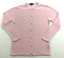 Carolyn Taylor Cardigan Sweater Size S/C Pastel Pink Size Small Classic Sweater