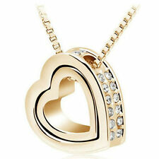 Best Friends Family Life Inspire Pendant Gift Jewelry Necklace Valentine's Day Silver 2 in 1 Deer