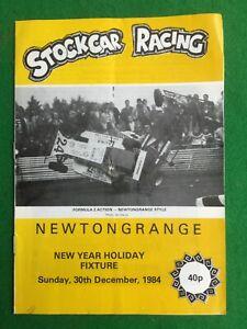 Stock car racing programme Newtongrange 30th December 1984