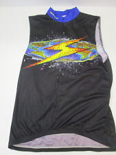 Sugoi Sleeveless 3 4 Zip Cycling Jersey - Mens L - Blues Black 20062a21d