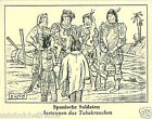 Spain Soldiers Indian Pipe Smoking IMAGE CARD History Tobacco HISTOIRE TABAC 30s