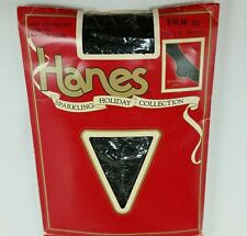 New listing Vintage Hanes Pantyhose Glitter Nylon Hosiery Sparkling Jet Holiday Collection