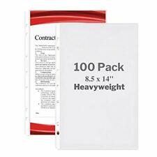 Dunwell Legal Size Sheet Protector Heavyweight 100 Pack 85x14 Legal Paper