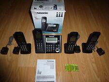 Panasonic Dect-6.0 Phone System w/ 4 Phones, Answering Machine- Black Kx-Tgf344B
