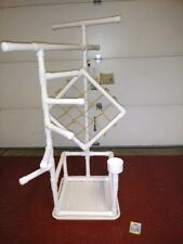 "54"" Tall Climber 1"" PVC Macaw  Perch  Stand   Play Gym w Pan FREE SHIPPING!**"