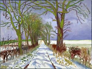 David Hockney Wold is Not Enough Canvas Wall Art 20X30'' Framed