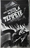 Affiche Originale ✤ La Tempête / Shakespaere / Dmitrij Bisti ✤ Chambéry ✤ 1975