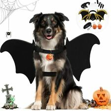 Animal Pet Bats Costume with Dog Leash Halloween Cosplay Fancy Dressing Costume