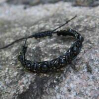 Regular Shungite Shambhala Macrame Bracelet from Russia for EMF Protection SB85