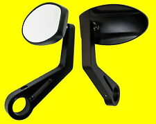 Handlebar Mounted Mirror Black Ferrara Streetfighter Custom Mirror Universal New
