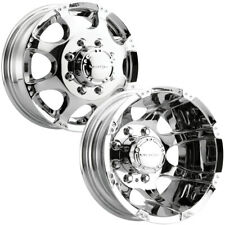 Set of 4-Vision 715 Crazy 8's Dually 17 Inch 8x170 Chrome Wheels Rims