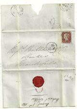 * 1845 E/NR TPO GREAT NORTHERN RAILWAY > MACCLESFIELD BANKERS BROCKLEHURST & Co.