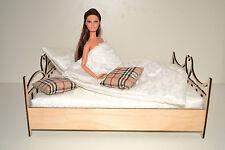 BED for Barbie FR 1/6 Dolls furniture Sofa