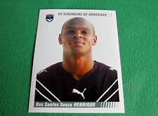 N°36 HENRIQUE GIRONDINS BORDEAUX PANINI FOOT 2009 FOOTBALL 2008-2009