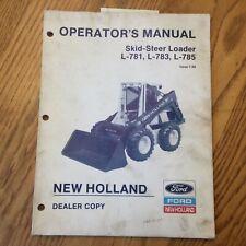 New Holland L 781 783 785 Skid Steer Loader Operator Manual Maintenance 42078133