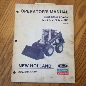 New Holland L-781 783 785 SKID STEER LOADER OPERATOR MANUAL MAINTENANCE 42078133