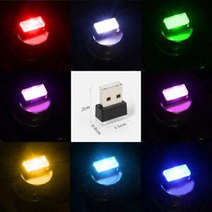 1x Mini USB LED Light Colorful Light Lamp Car Atmosphere Lamp Bright Accessories