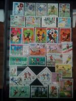 Fussball Briefmarken Stamps Sellos Timbres