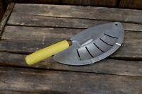 FOLEY Vtg Pot Pan Strainer Drainer yellow Wood Handle Pasta