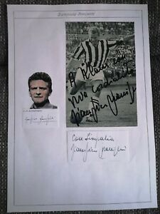 Giampiero Boniperti original Autogramm,Italien,WM 1954, autograph, Juventus,Juve