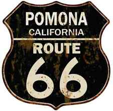 Pomona, California Route 66 Shield Metal Sign Man Cave Garage 211110014055