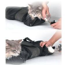 New listing Cat Kitten Bath Mesh Bag Anti Biting Scratching Restraint Nail Grooming Trimming