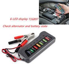 12V Digital Battery Alternator Tester 6LED Display Check Test Battery Car Motor
