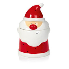 Christmas Tableware Red Jingle Santa Shaped Christmas Cookie Jar New