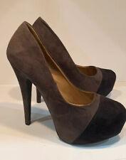 Internationale Heels Shoes Uk Size 8 / 41 Brown 6 Inch Stiletto Heel Unworn.