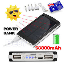 50000mAh Solar Battery Power Bank Portable Charger for Mobile Phone Device