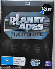 Planet Of The Apes - Evolution Collection (Blu-ray, 2011, 7-Disc Set)
