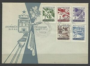 Yugoslavia Sc#295-99,  Third Annual Aviation Meet  Set of 5  on First Day Cover