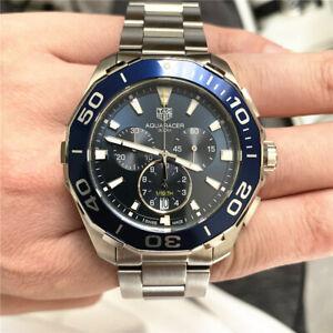 Tag Heuer Aquaracer Quartz Chronograph Mens Watch Blue 43mm cay111b.ba0927