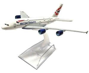 BRITISH AIRWAYS A380 16CM Airlines Die Cast Metal Desk Aircraft Plane Model UK