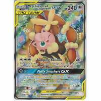 226/236 Mega Lopunny & Jigglypuff TAG TEAM GX Rare Ultra Cosmic Eclipse Pokemon