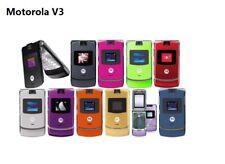 Original Motorola RAZR V3 Flip Mobile Phone Unlocked Cellphone 2G GSM Bluetooth