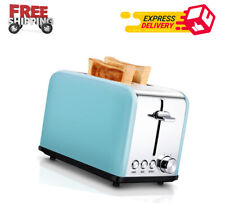 Toaster 2 Slice, Extra Wide Slot Compact Stainless Steel Toasters