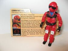 Gijoe Cobra 1984 Wild Weasel Rattler Pilot Complete with Filecard