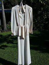***MERIVALE FORMAL MAXI DRESS & JACKET EARLY 1970'S ORIGINAL & TRUE VINTAGE***