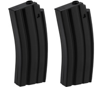 2-PACK Double Eagle M83A2 M83 50rd Round Black Airsoft Spare Magazine BB Clip