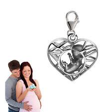 """Silberpoint, Charm Anhänger """"Baby in meinem Herz""""-925er Sterling Silber- Neu"""