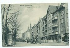 alte AK Berlin Johannisthal Kaiser Wilhelmstrasse 1921 Litfaßsäule Treptow